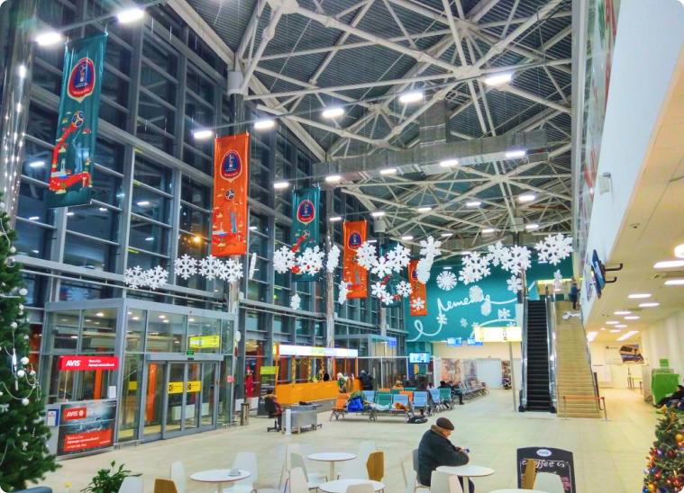художественное оформление терминалов аэропорта