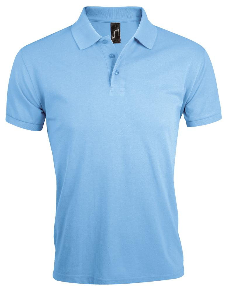Рубашка поло мужская PRIME MEN 200 голубая
