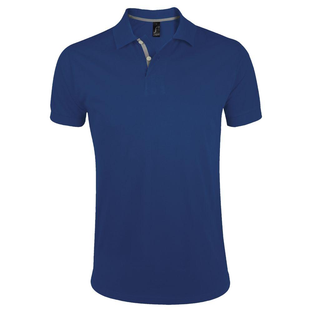 Рубашка поло мужская PORTLAND MEN 200 синий ультрамарин