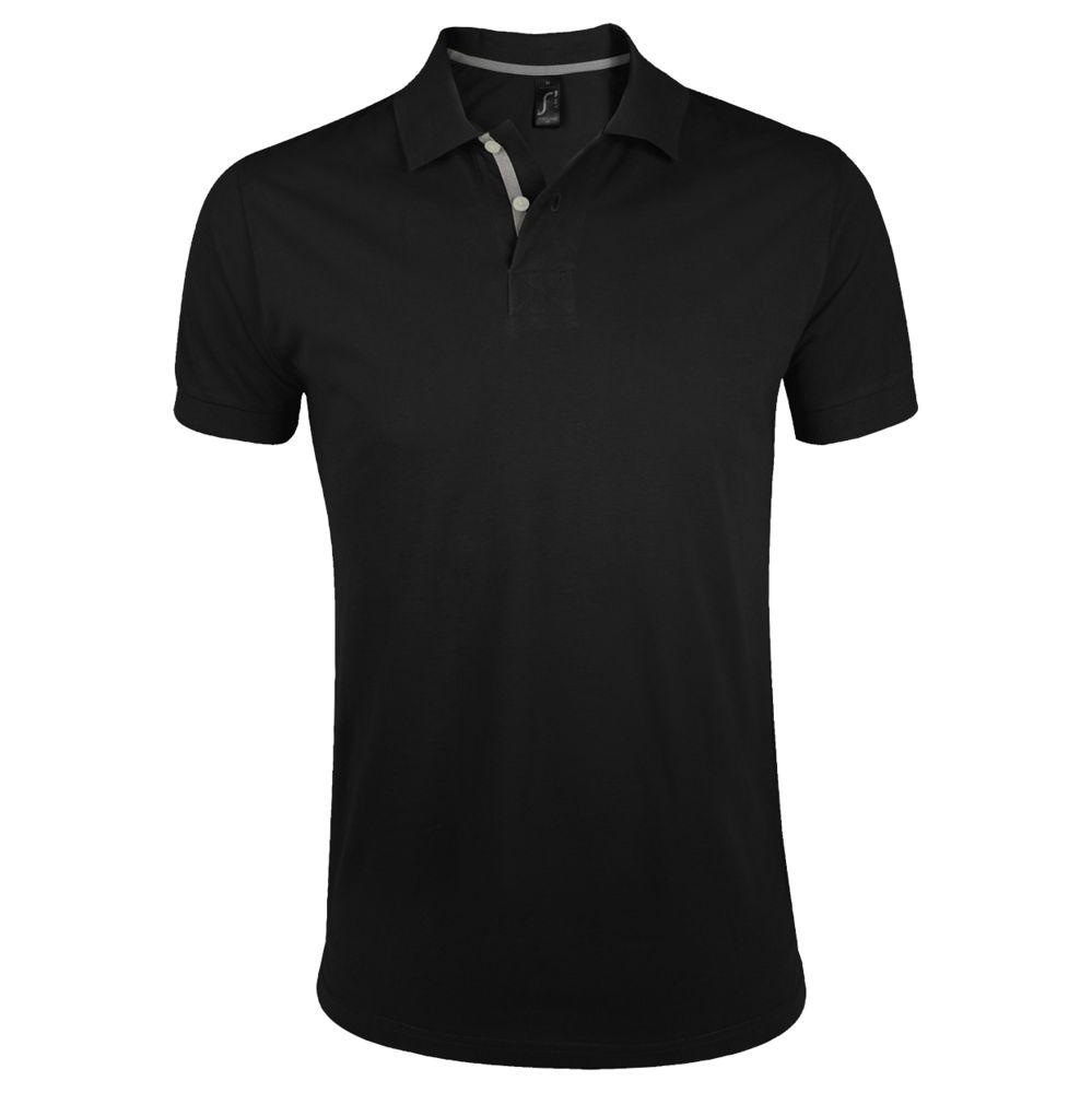 Рубашка поло мужская PORTLAND MEN 200 черная