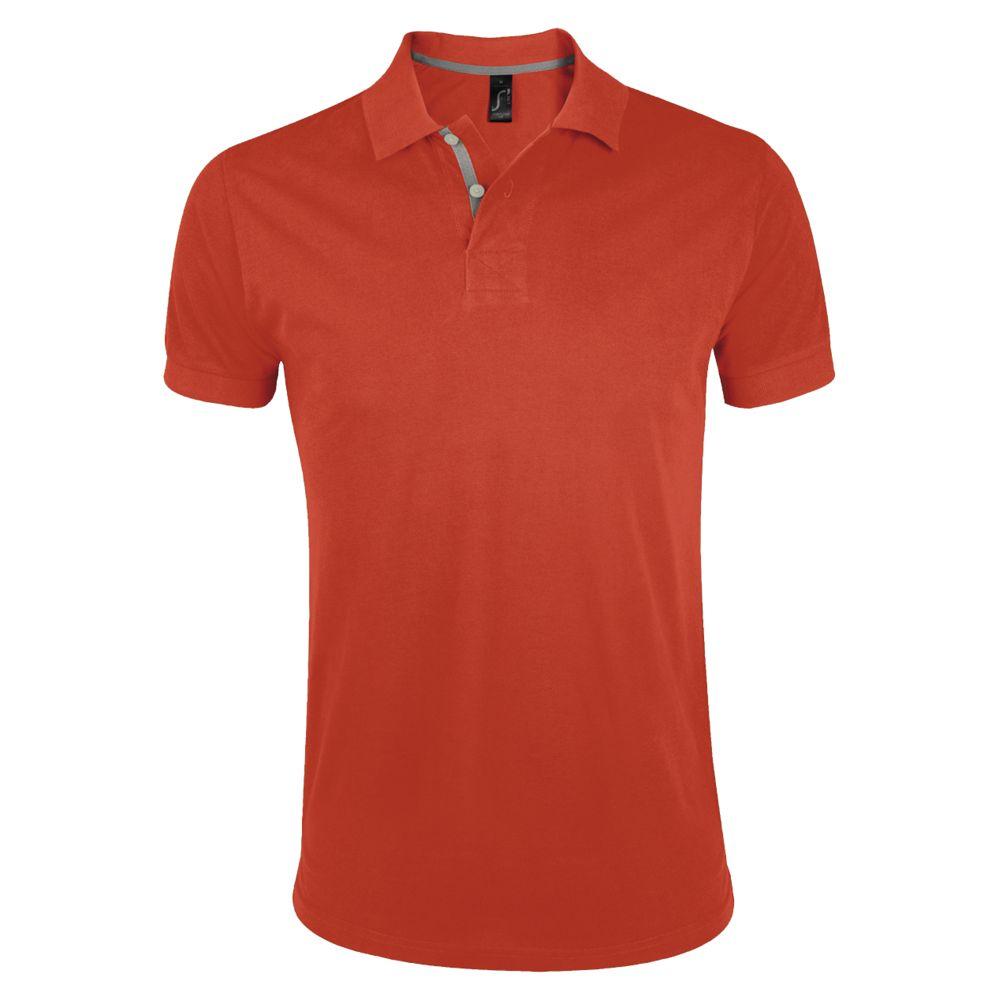 Рубашка поло мужская PORTLAND MEN 200 оранжевая