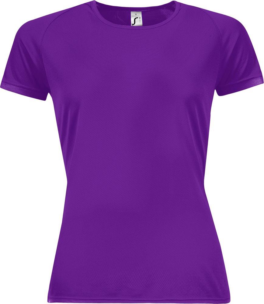Футболка женская SPORTY WOMEN 140, темно-фиолетовая
