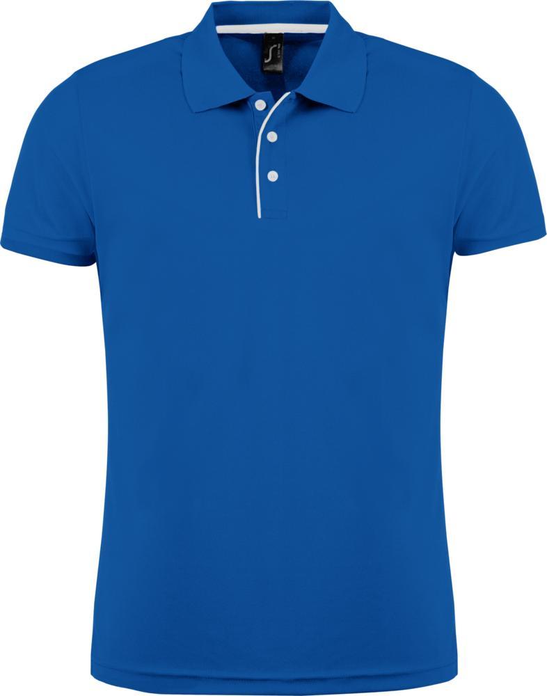 Рубашка поло мужская PERFORMER MEN 180 ярко-синяя