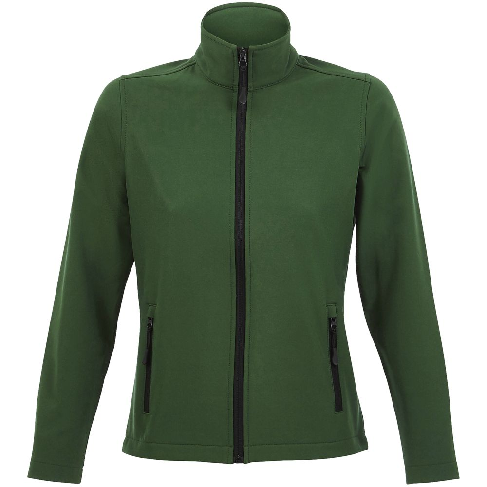 Куртка софтшелл женская RACE WOMEN, темно-зеленая
