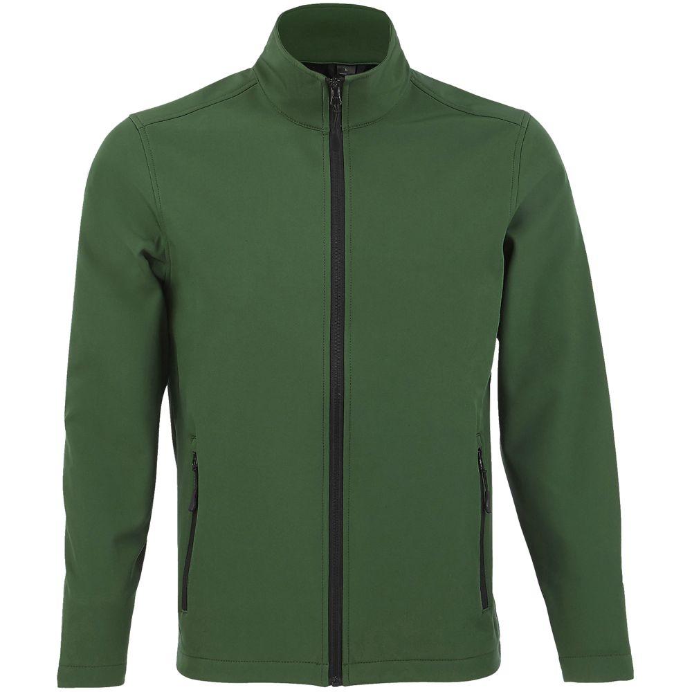 Куртка софтшелл мужская RACE MEN, темно-зеленая