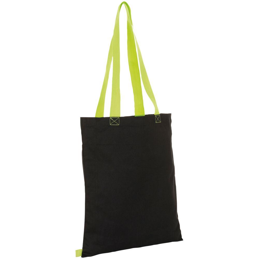 Сумка для покупок Hamilton, черная с зеленым