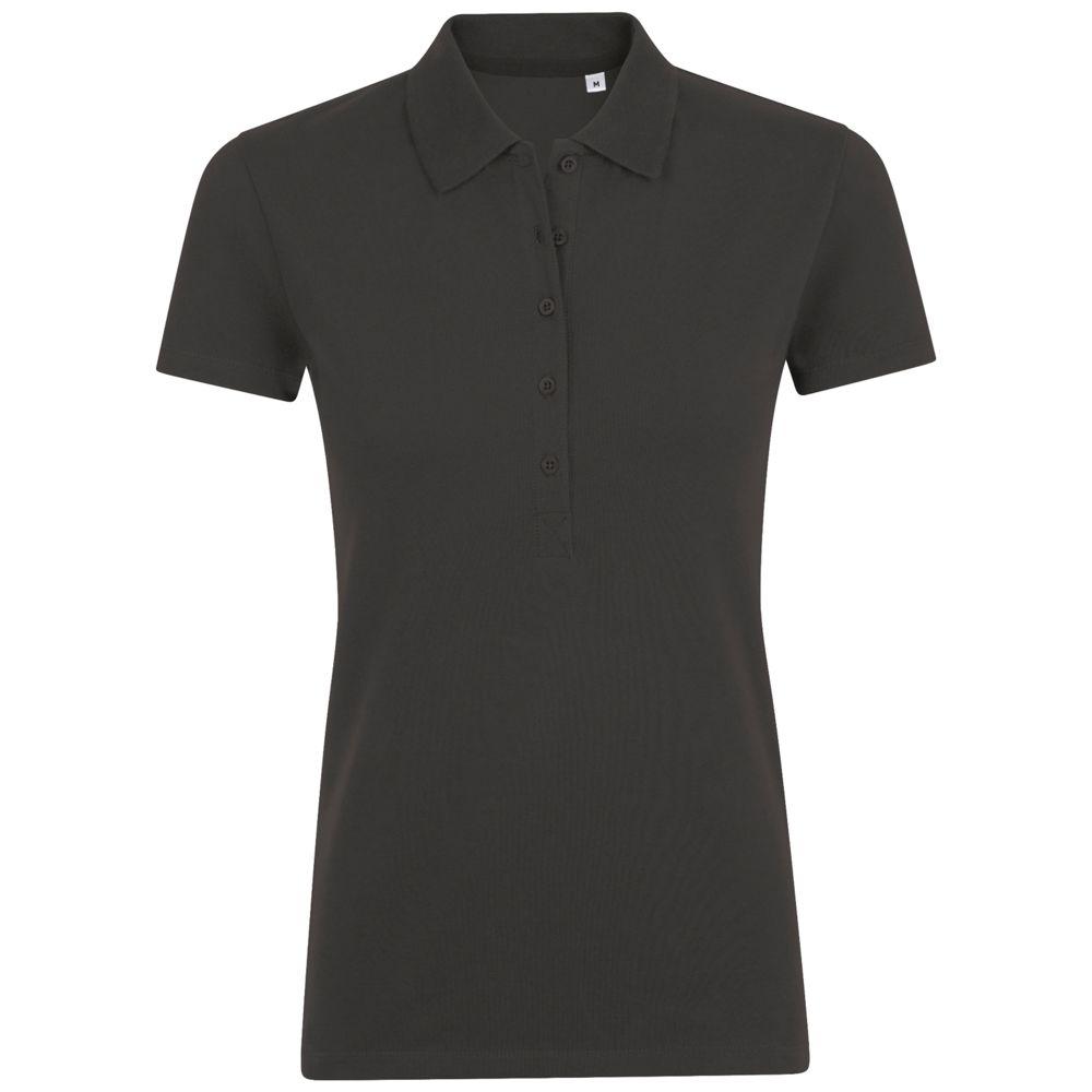 Рубашка поло женская PHOENIX WOMEN, темно-серый меланж