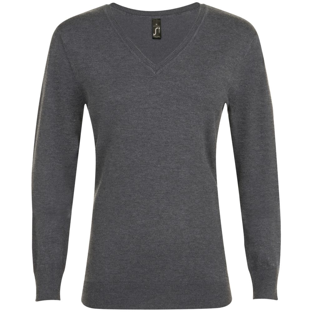 Пуловер женский GLORY WOMEN, черный меланж