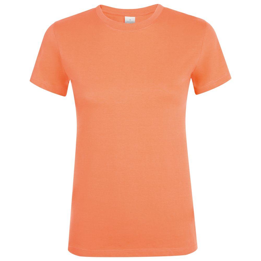 Футболка женская REGENT WOMEN, оранжевая (абрикосовая)