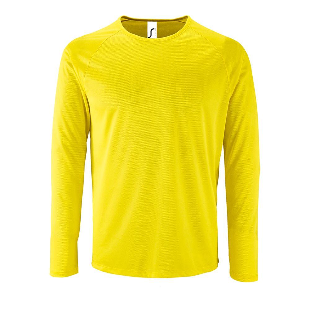 Футболка с длинным рукавом SPORTY LSL MEN желтый неон