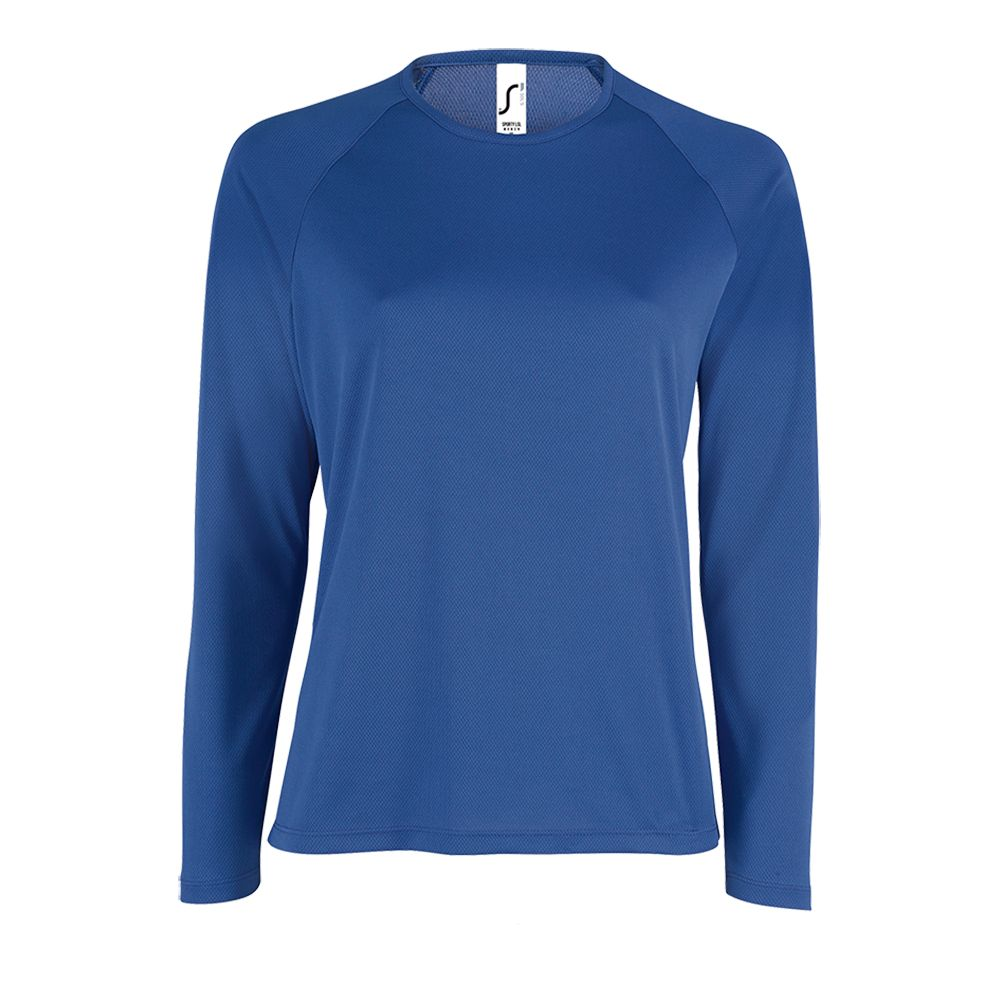 Футболка с длинным рукавом SPORTY LSL WOMEN, ярко-синяя
