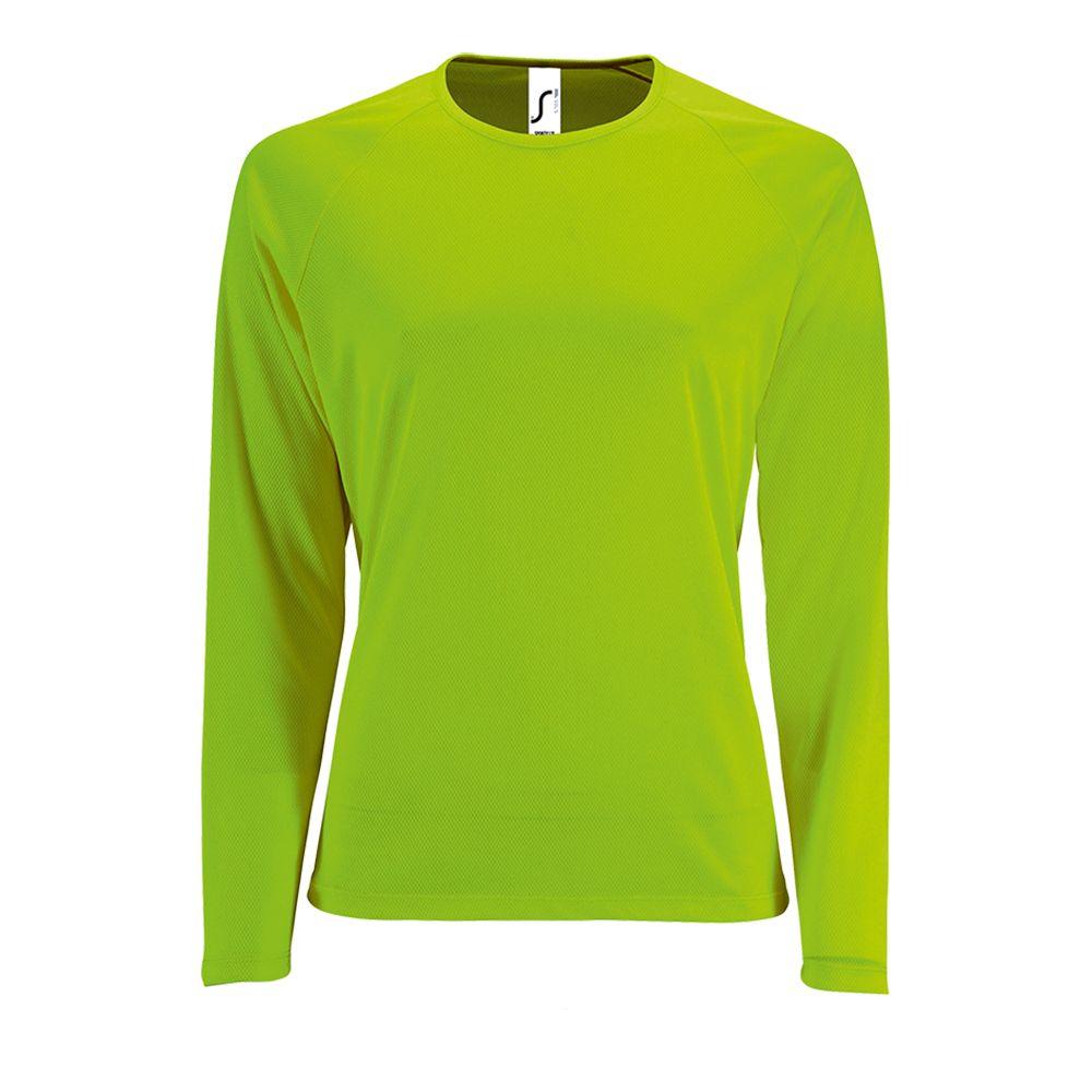 Футболка с длинным рукавом SPORTY LSL WOMEN, зеленый неон