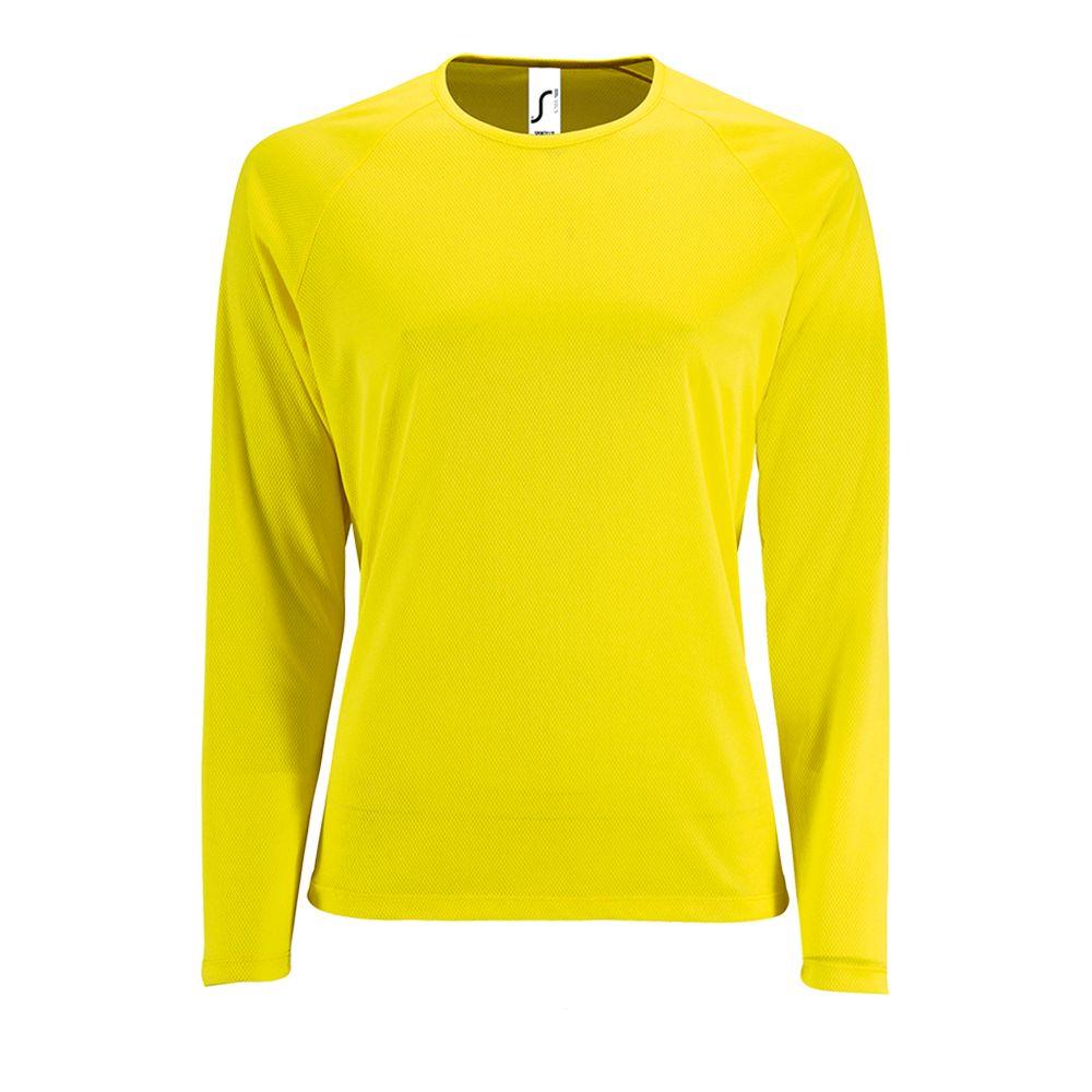 Футболка с длинным рукавом SPORTY LSL WOMEN, желтый неон
