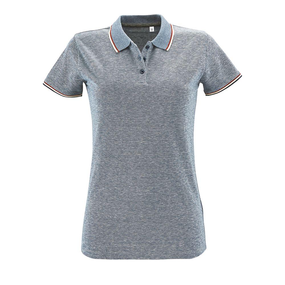 Рубашка поло женская PANAME WOMEN, голубой меланж