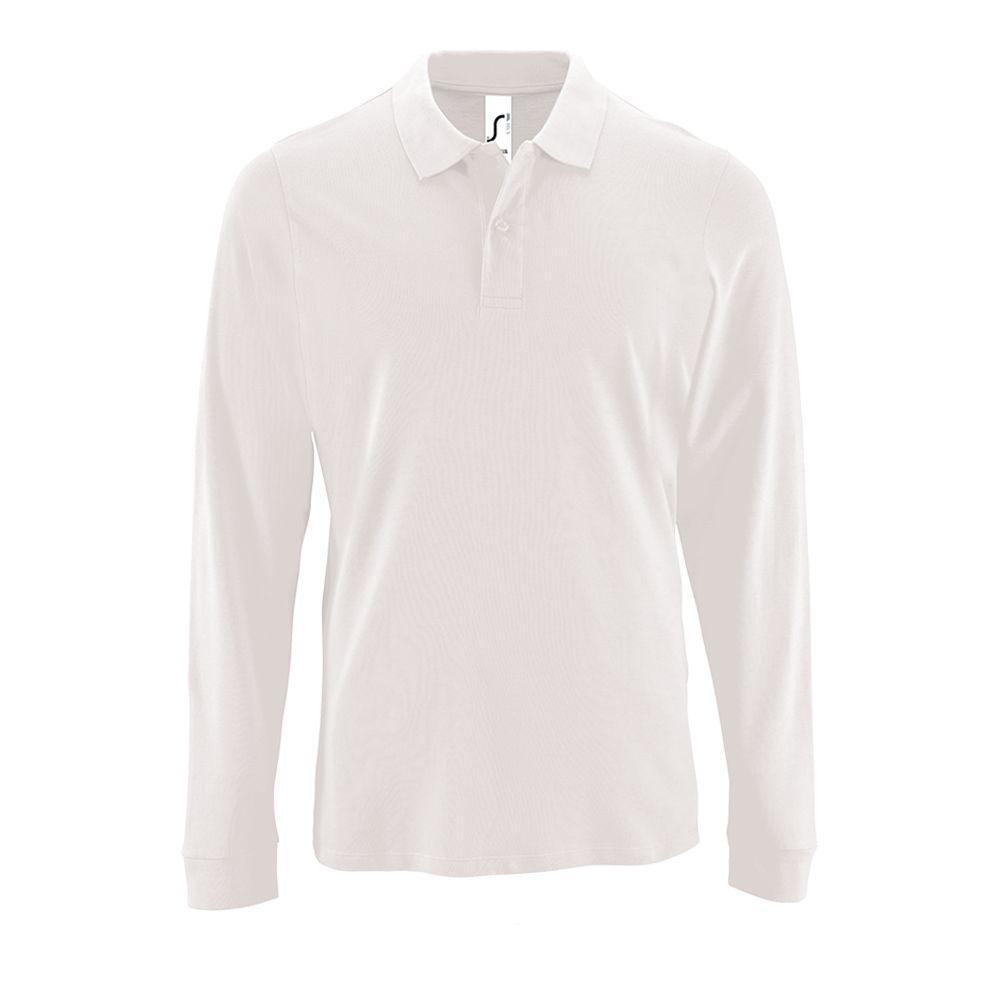 Рубашка поло мужская с длинным рукавом PERFECT LSL MEN, белая