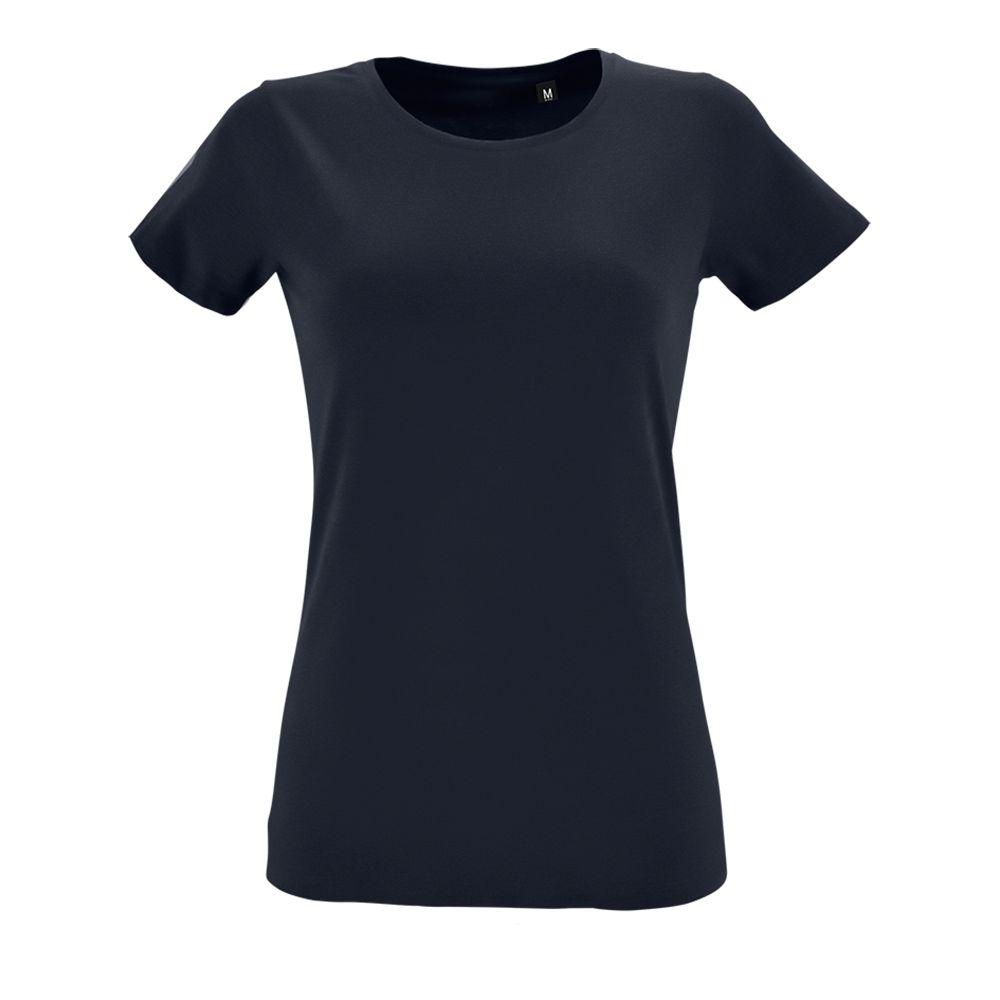 Футболка женская REGENT FIT WOMEN, темно-синяя (кобальт)