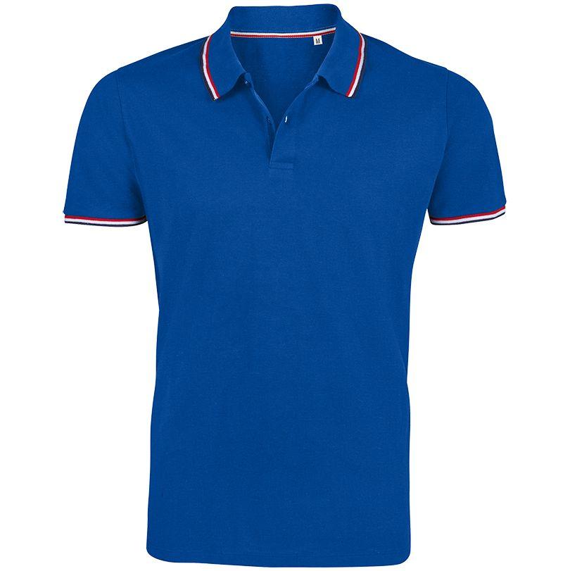 Рубашка поло мужская Prestige Men, ярко-синяя