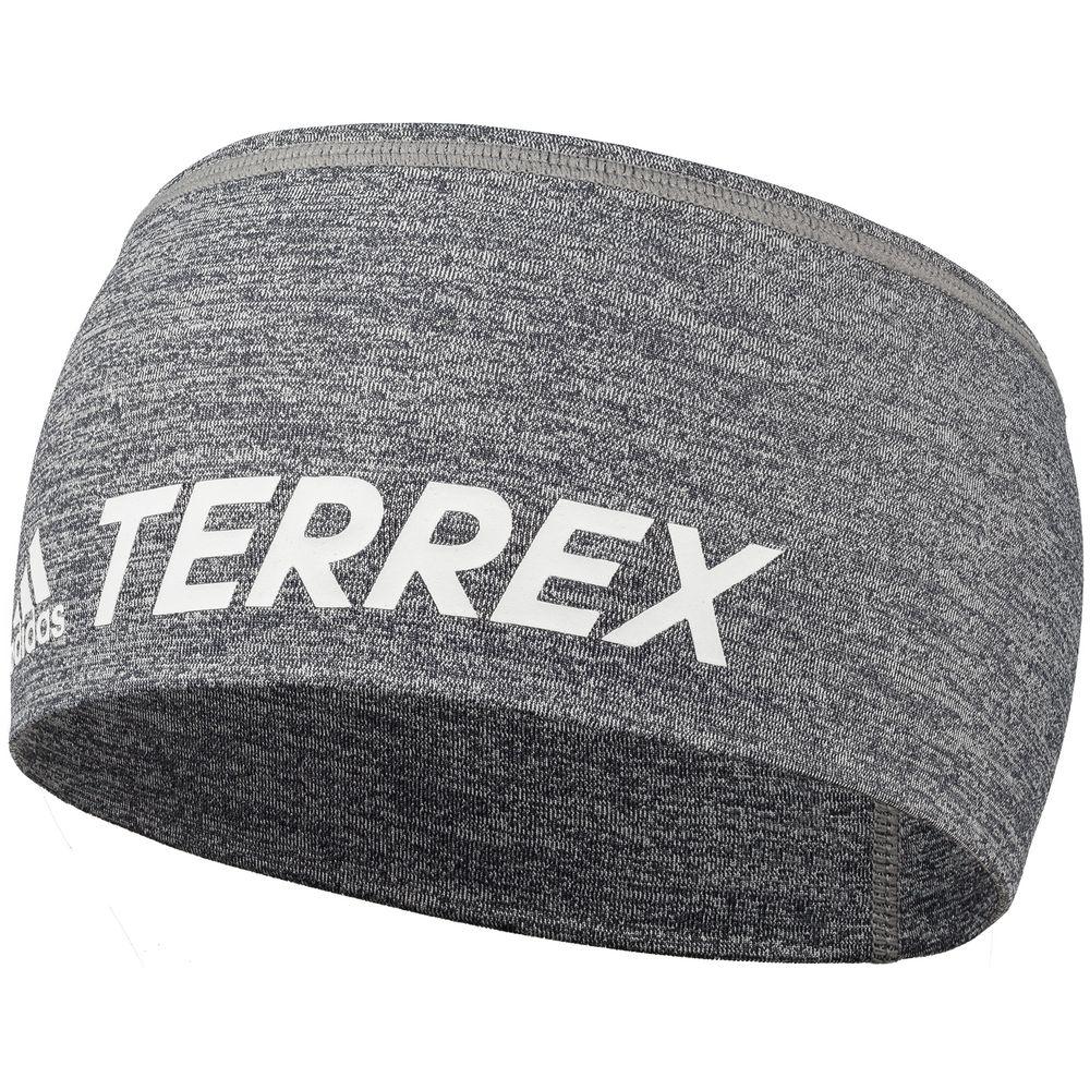 Спортивная повязка на голову Terrex Trail, серый меланж