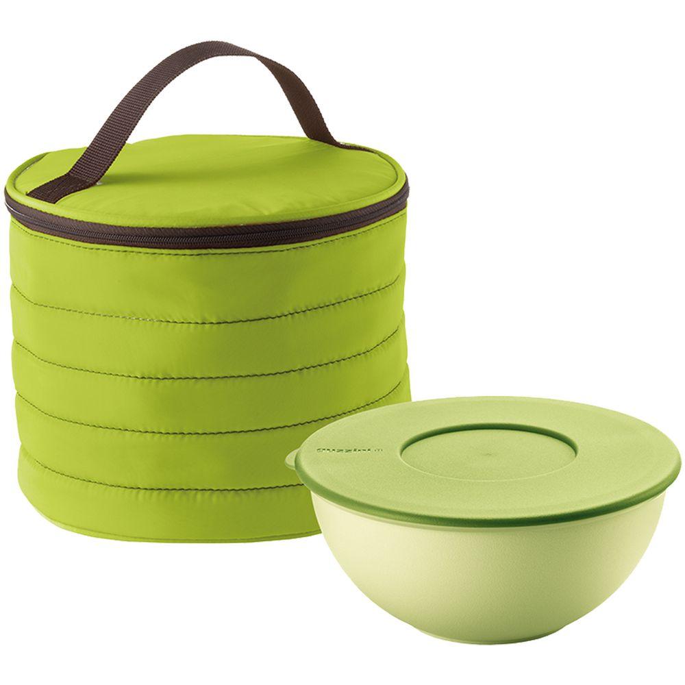 Набор Handy: термосумка и контейнер, круглый, зеленый