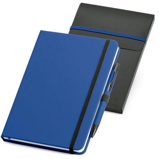 Набор: блокнот Advance с ручкой, синий с черным