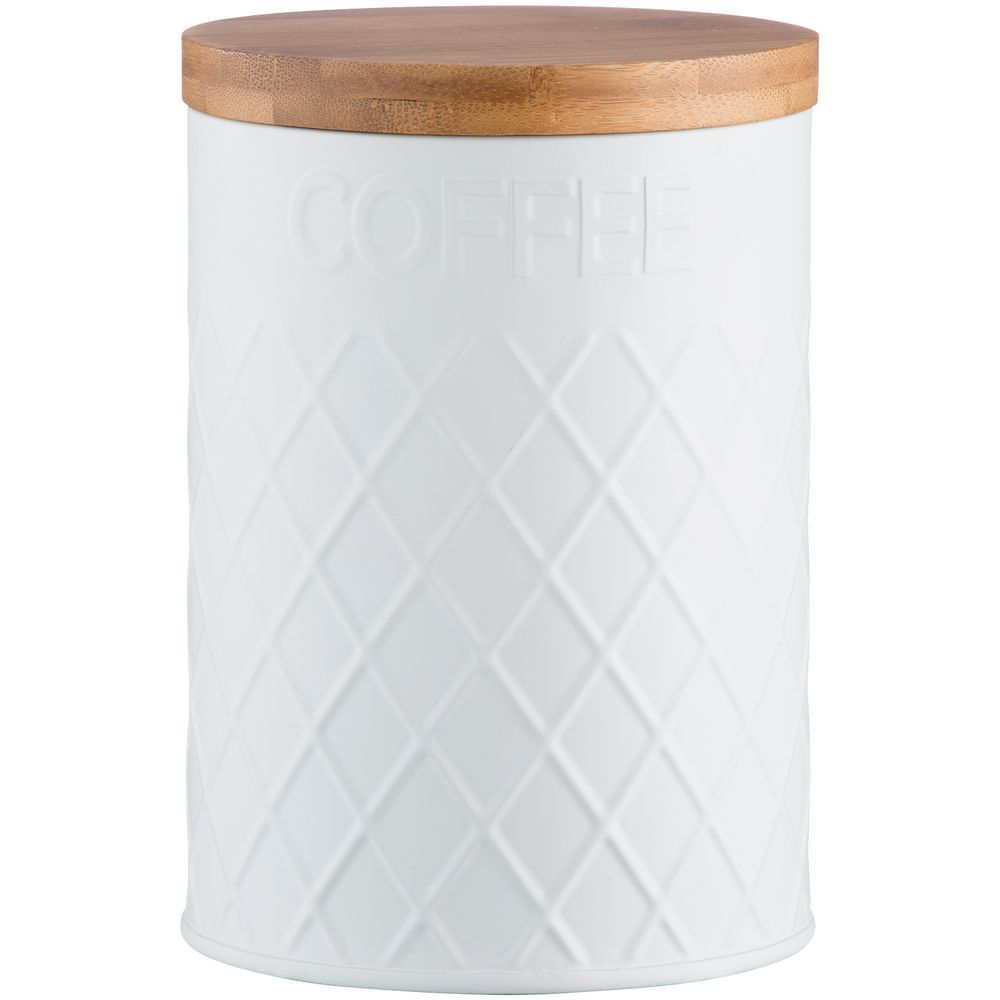 Емкость для хранения кофе Embossed, белая
