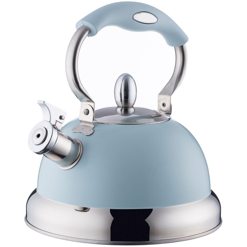 Чайник со свистком Living, голубой