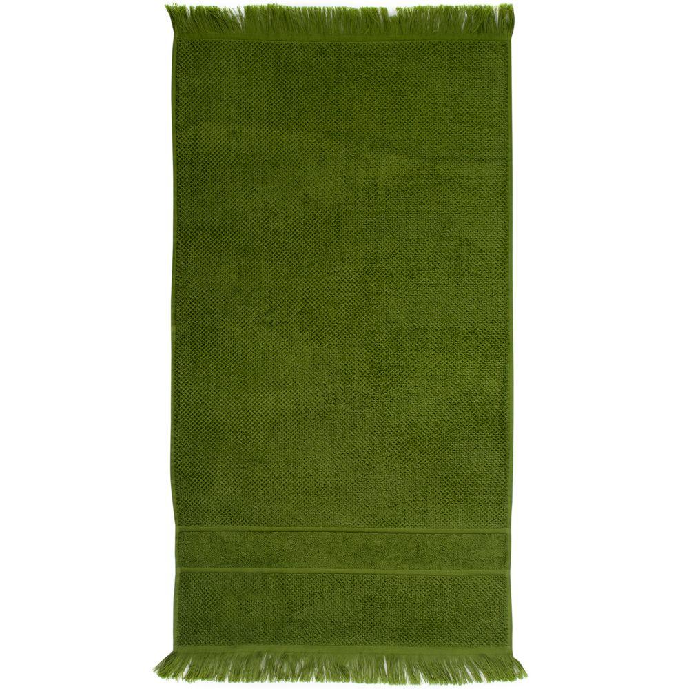 Полотенце Essential с бахромой, оливково-зеленое