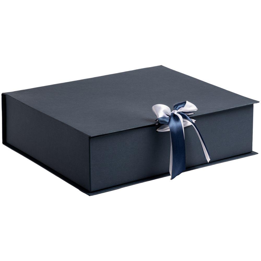 Коробка на лентах Tie Up, синяя