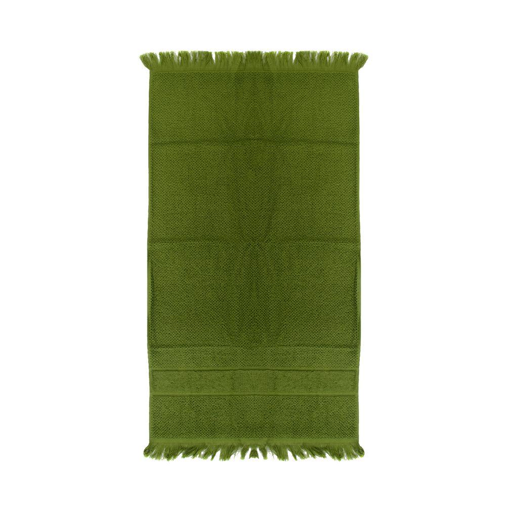 Полотенце для рук Essential с бахромой, оливково-зеленое