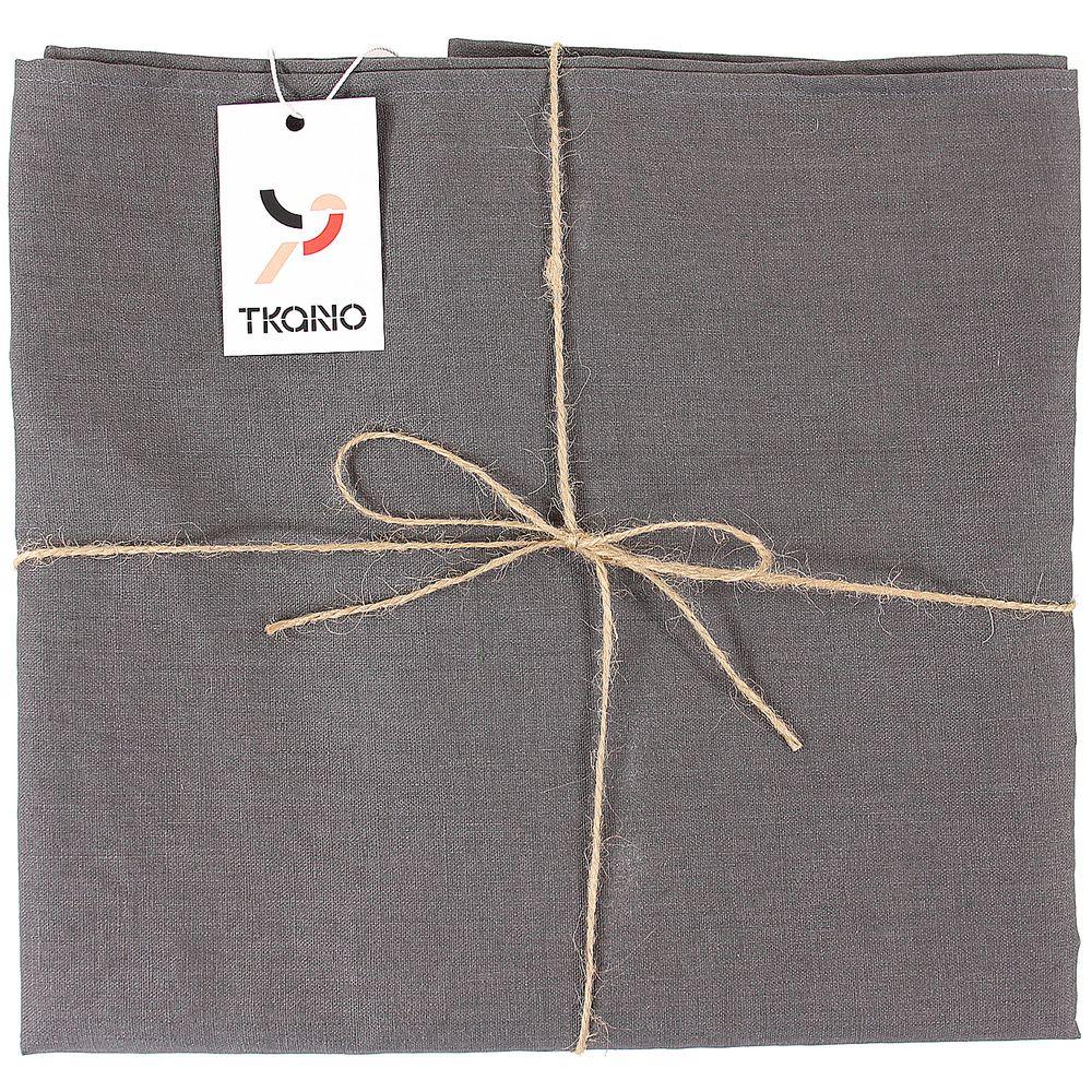 Скатерть Essential с пропиткой, прямоугольная, темно-серая