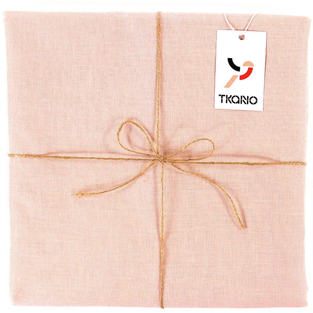 Скатерть Essential с пропиткой, квадратная, розовая