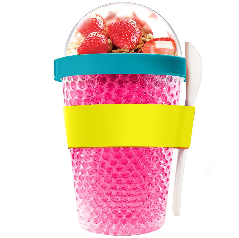 Охлаждающий контейнер Chill Yo 2 Go, розовый
