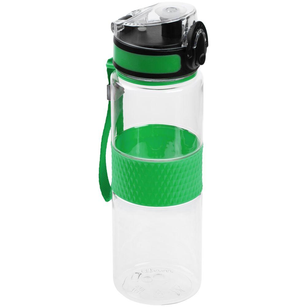 Бутылка для воды Fata Morgana, прозрачная с зеленым