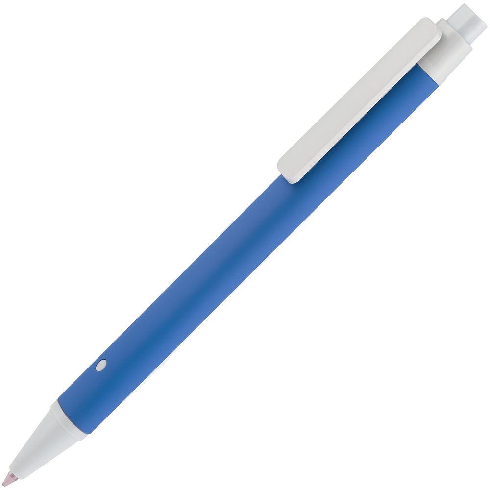 Ручка шариковая Button Up, синяя с белым