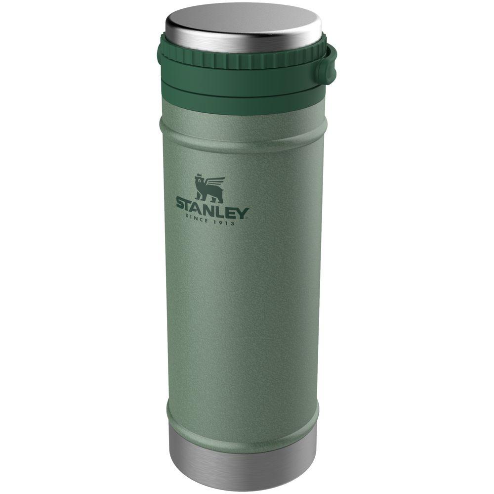 Термокружка с френч-прессом Stanley Classic, темно-зеленая