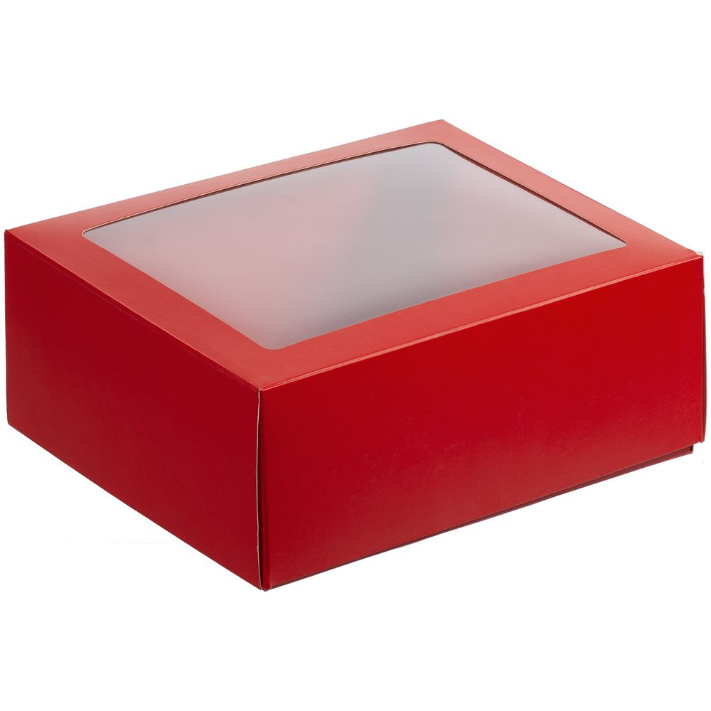 Коробка с окном InSight, красная