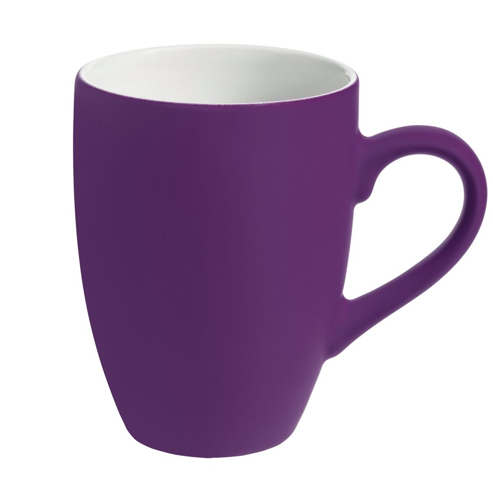 Кружка Best Morning c покрытием софт-тач, фиолетовая