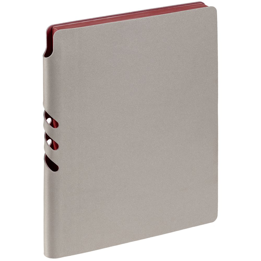 Ежедневник Flexpen, недатированный, серебристо-бордовый