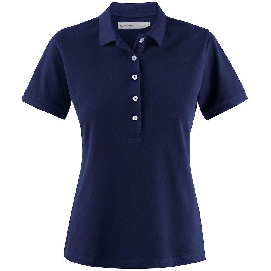 Рубашка поло женская Sunset, темно-синяя