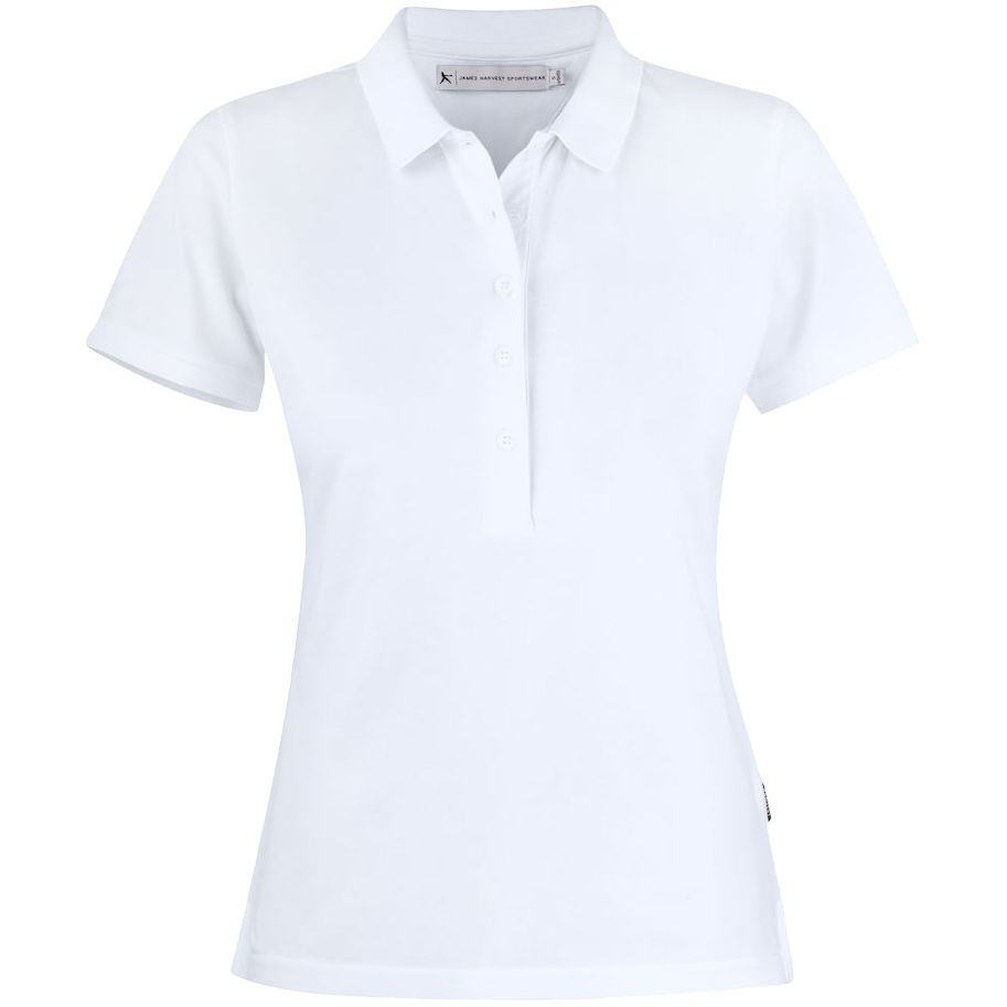 Рубашка поло женская Sunset, белая