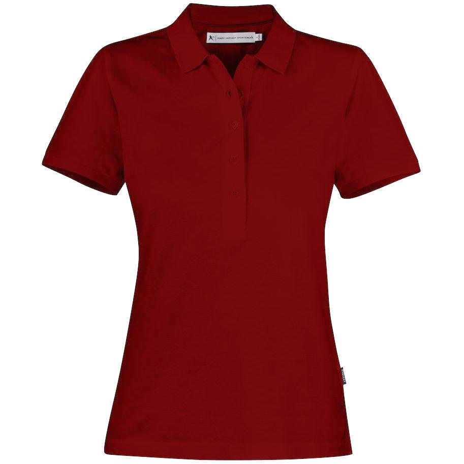 Рубашка поло женская Neptune, вишнево-красная