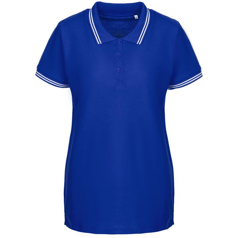 Рубашка поло женская Virma Stripes Lady, ярко-синяя