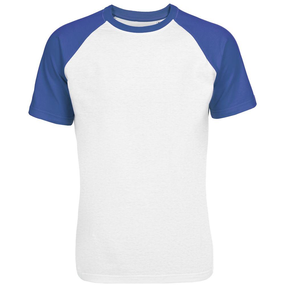 Футболка мужская T-bolka Bicolor, белая с синим