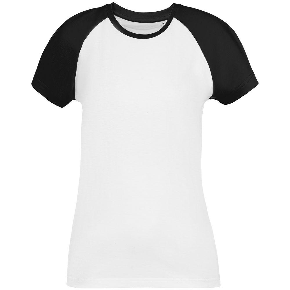 Футболка женская T-bolka Bicolor Lady, белая с черным
