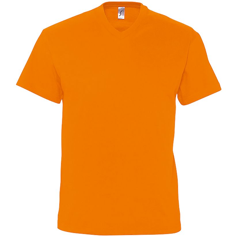 Футболка мужская с V-обр. вырезом VICTORY 150, оранжевая
