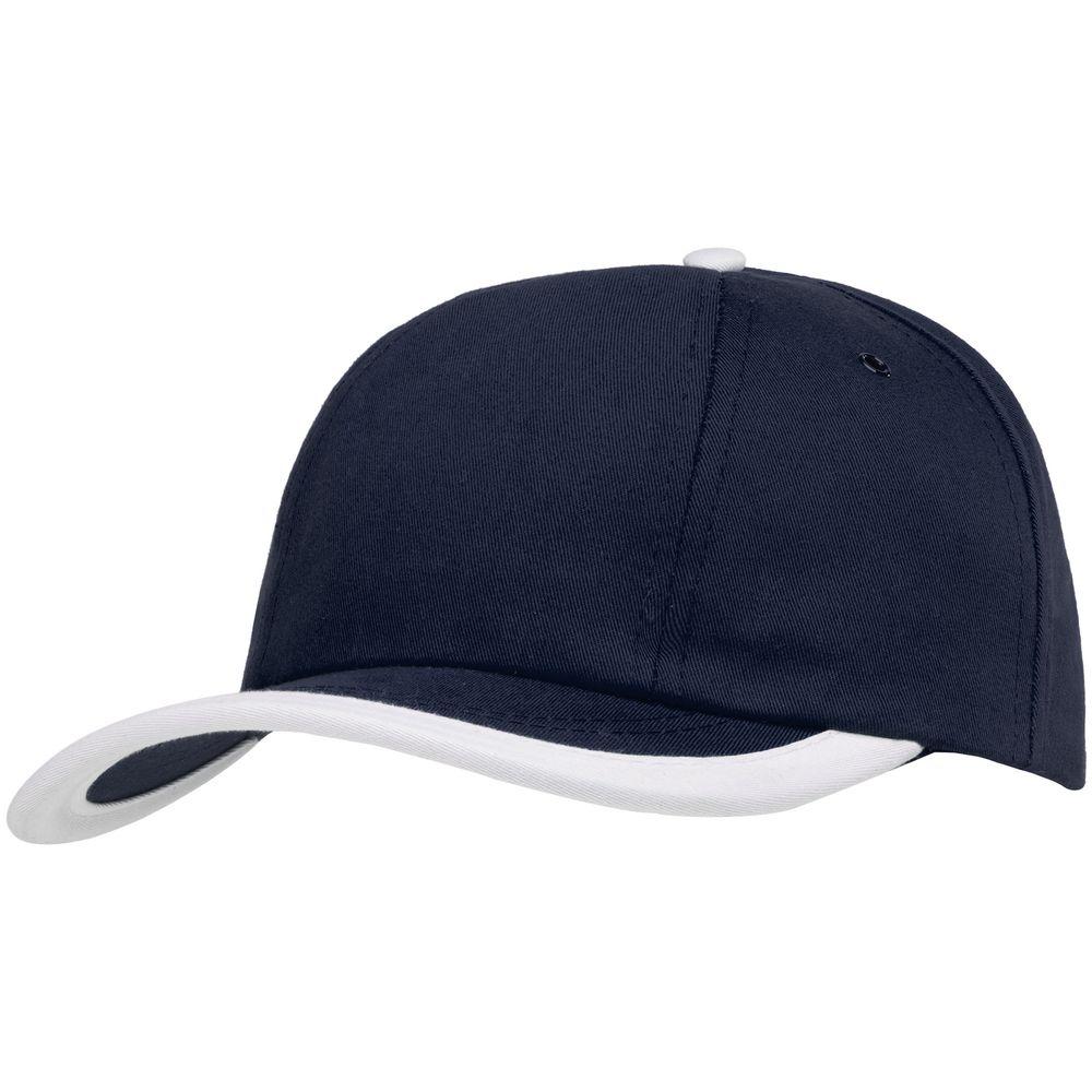 Бейсболка Bizbolka Honor, темно-синяя с белым кантом
