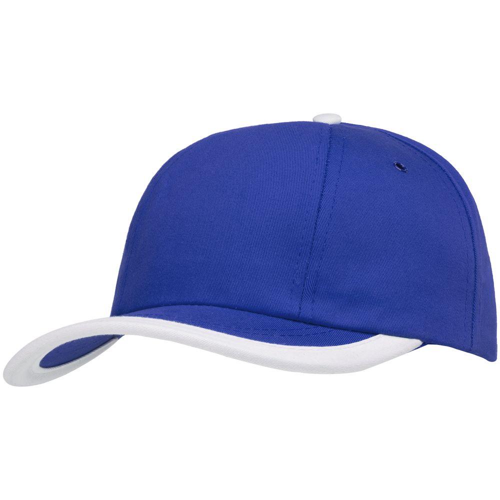Бейсболка Bizbolka Honor, ярко-синяя с белым кантом