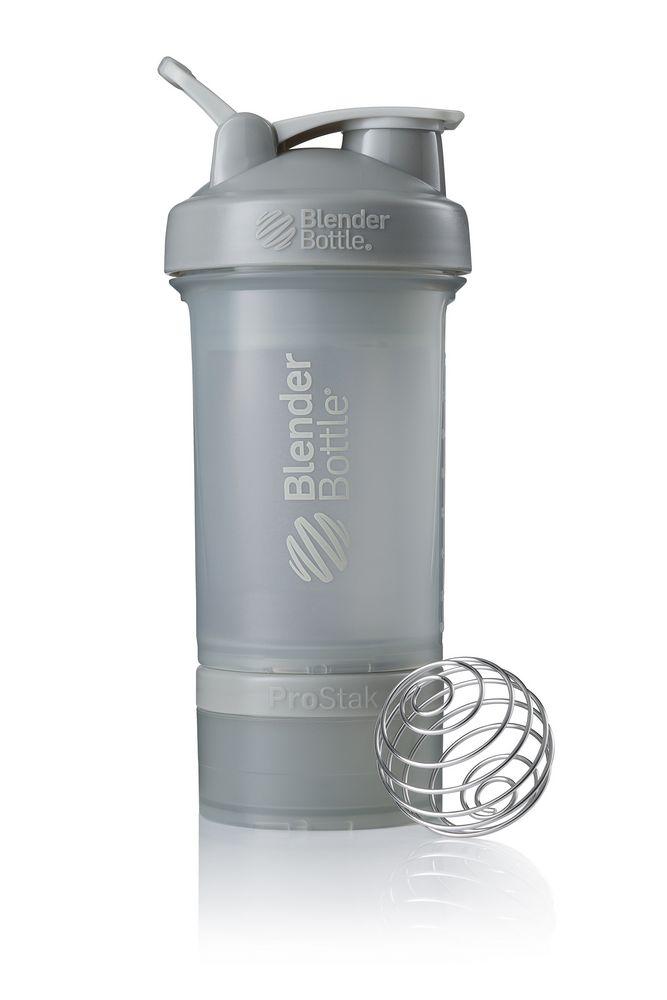 Спортивный шейкер с контейнером ProStak, серый графит