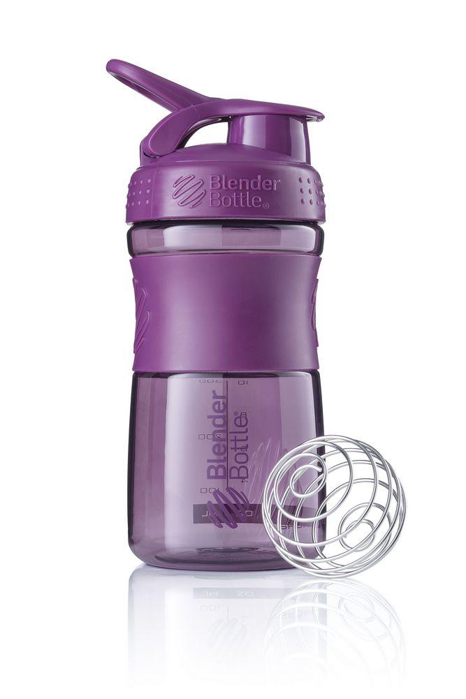Спортивный шейкер SportMixer, фиолетовый (сливовый)