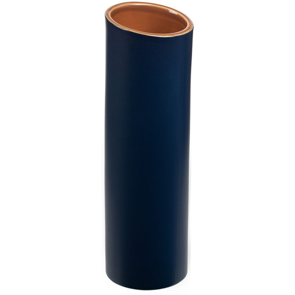 Ваза Form Fluid, большая, сине-горчичная